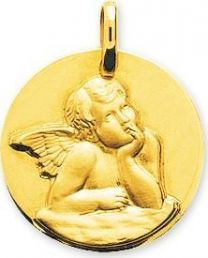 Medaille ange or375 jaune