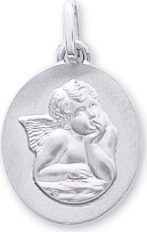 Medaille ange or375 blanc