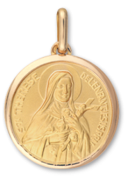 Médaille Or Sainte-Therese