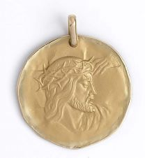 Medaille Or Christ