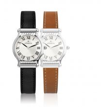 Montre Michel Herbelin Antares Integree 2cuirs Courts