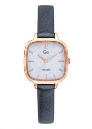 Montre Go Femme Or rose bracelet Gris brillant