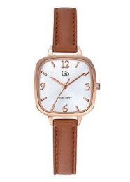 Montre Go Femme Or rose bracelet Marron clair