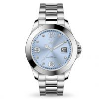 Montre Ice Watch steel - Light blue with stones