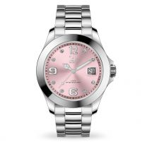 Montre Ice Watch steel - Light pink with stones